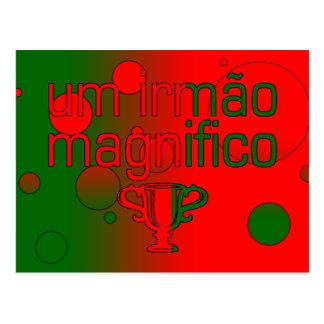Um Irmão Magnifico Portugal Flag Colors Pop Art Postcard