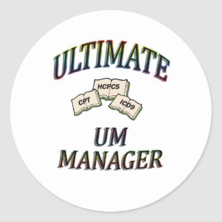 UM MANAGER WITH COLOR CLASSIC ROUND STICKER