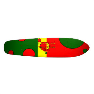 Um Pai Magnifico Portugal Flag Colors Pop Art Skateboard Deck