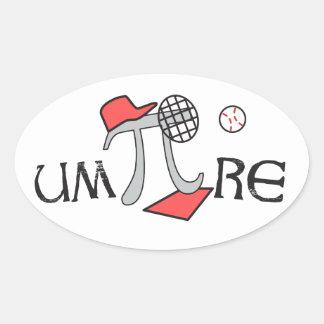 um-Pi-re - Funny Umpire Pi Symbol Stickers Pi Gift