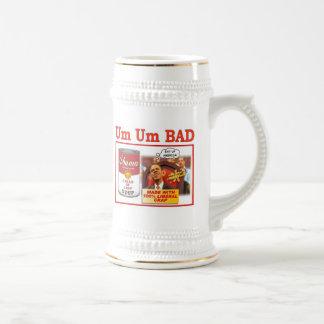 """UM UM BAD """"obama soup"""" Beer Stein"""