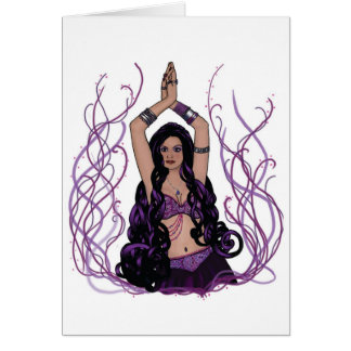 Umalini Belly Dancer Greeting Card