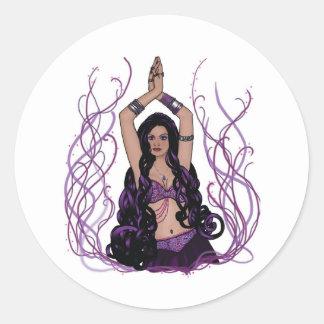 Umalini Belly Dancer Round Stickers