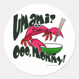 Umami Crab Classic Round Sticker