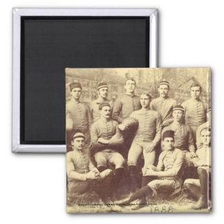UMass Football 1888 2 Inch Square Magnet