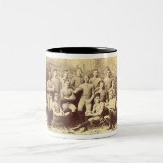 UMass Football 1888 Two-Tone Coffee Mug