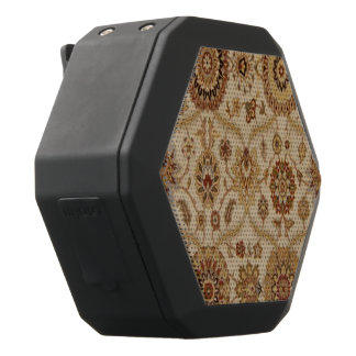 Umber Tawny Floral Persian Tapestry Design Black Bluetooth Speaker