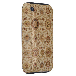 Umber Tawny Floral Persian Tapestry Design Tough iPhone 3 Covers