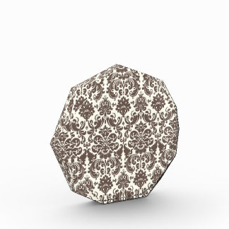 Umber y modelo elegante de marfil del damasco