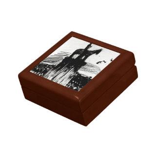 Umberto Boccioni- Crowd Surrounding a Monument Trinket Boxes