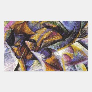 Umberto Boccioni - Dynamism of a Cyclist Rectangular Sticker