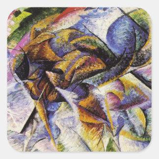 Umberto Boccioni - Dynamism of a Cyclist Square Sticker