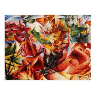Umberto Boccioni - elástico (detalle) Postal