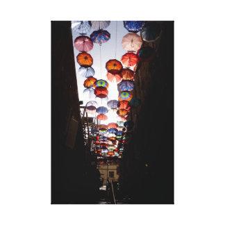 Umbrella Alley Canvas Print