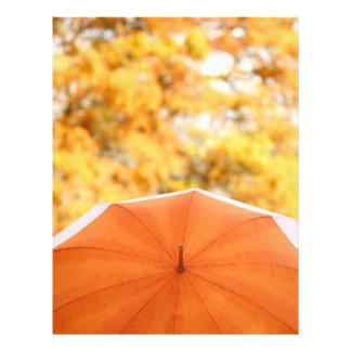 """Umbrella and Autumn Colors 8.5"""" X 11"""" Flyer"""