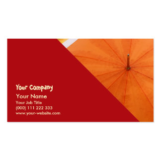 Umbrella and Autumn Colors Double-Sided Standard Business Cards (Pack Of 100)