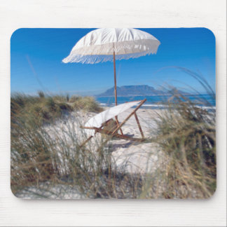 Umbrella And Chair On Beach Mouse Pad
