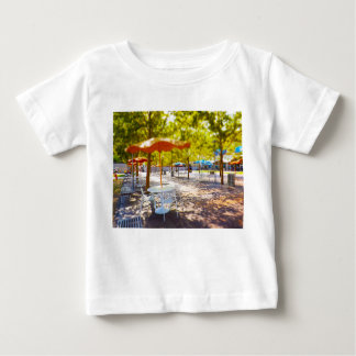 Umbrella and Chairs, Courtyard, Crown Center, KC Infant T-shirt