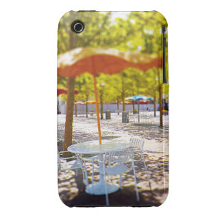 Umbrella and Chairs, Courtyard, Crown Center, KC iPhone 3 Case-Mate Case