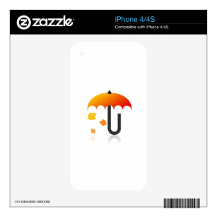 Umbrella and leaves skin for the iPhone 4