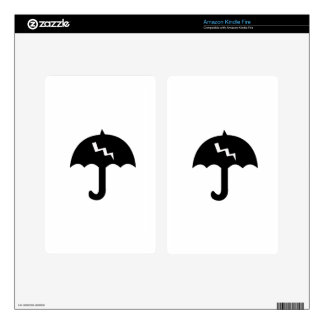 umbrella and  lighting kindle fire decals