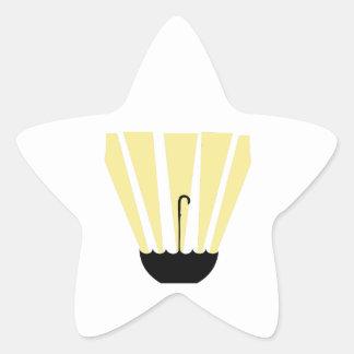 Umbrella And Sun Star Stickers