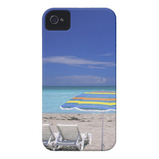 Umbrella and two lounge chairs on beach, Miami Case-Mate iPhone 4 Case