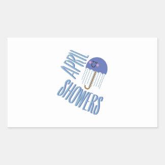 Umbrella April Showers Rectangular Sticker
