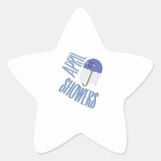 Umbrella April Showers Star Sticker