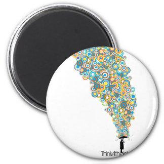Umbrella Atheist 2 Inch Round Magnet