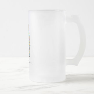 Umbrella Atheist Frosted Glass Beer Mug