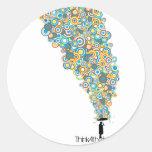 Umbrella Atheist Round Sticker