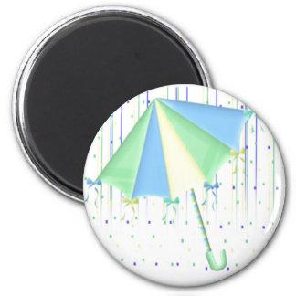 Umbrella Baby Shower 2 Inch Round Magnet