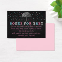 Umbrella Baby Shower Book Request Cards