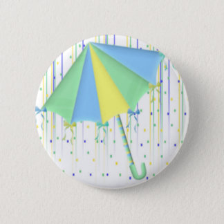 Umbrella Baby Shower Button