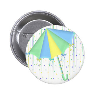 Umbrella Baby Shower Pinback Buttons