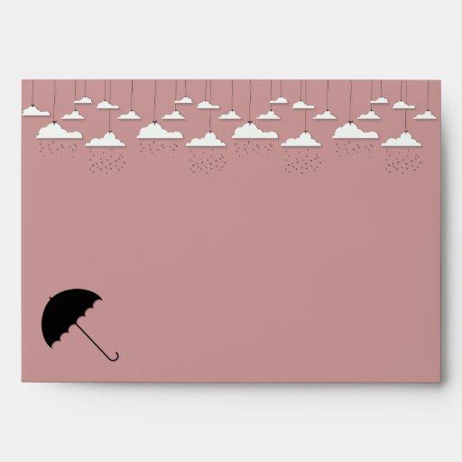 umbrella baby shower envelope zazzle