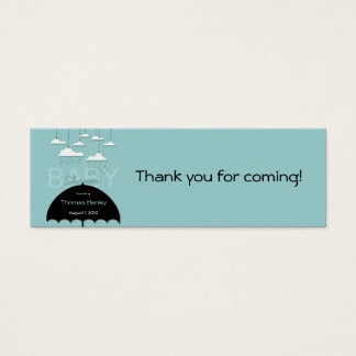Umbrella Baby Shower Favor Tag Mini Business Card