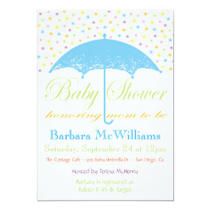 umbrella baby shower invitations zazzle