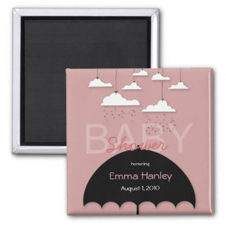 Umbrella Baby Shower Save the Date Magnet