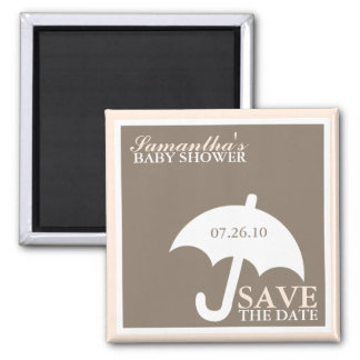 Umbrella Baby Shower Save the Date Magnets