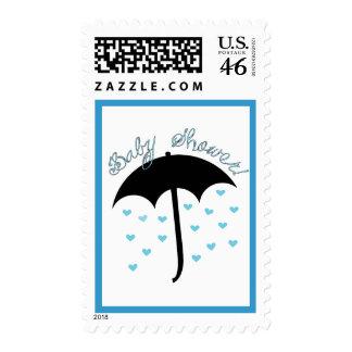 Umbrella Baby Shower Stamp - Boy