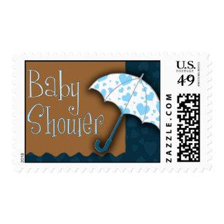 Umbrella baby shower stamp
