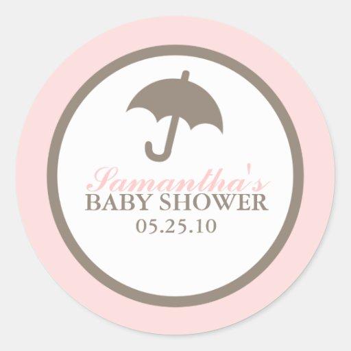 umbrella baby shower stickers zazzle