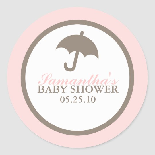 Umbrella Baby Shower Stickers
