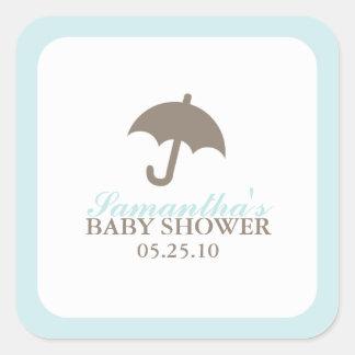 Umbrella Baby Shower Stickers
