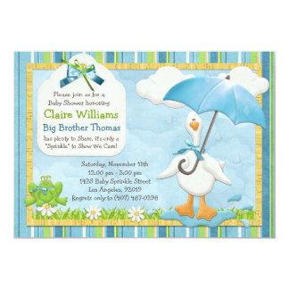 Umbrella Baby Sprinkle Shower Invitation Boy