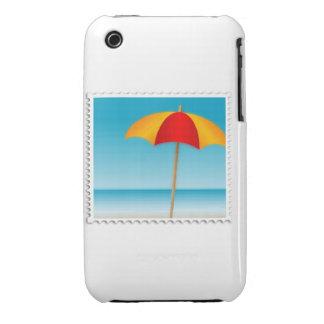 Umbrella, Beach & Ocean Stamp iPhone 3 Cover