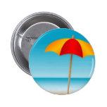 Umbrella, Beach & Ocean Stamp Pin