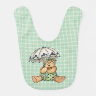 Umbrella Bear Baby Bib